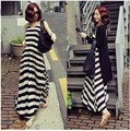 2017 Fashion Maternity Clothing Cardigan Stripe Long Dress Pregnancy Clothes Full Dress Twinset Clothes For Pregnant Wome