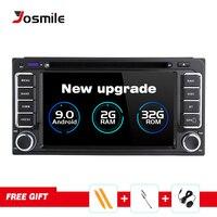2 din Car Radio GPS Android 9.0 Car DVD Player For Toyota Avensis Land Cruiser 100 200 Prado 120 150 Rush Corolla Yaris Hilux