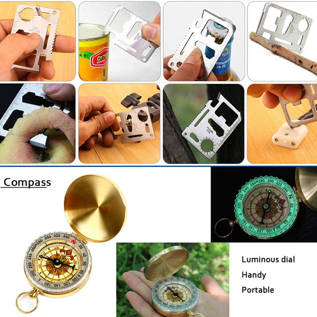 Outdoor survival kit Set Camping 8