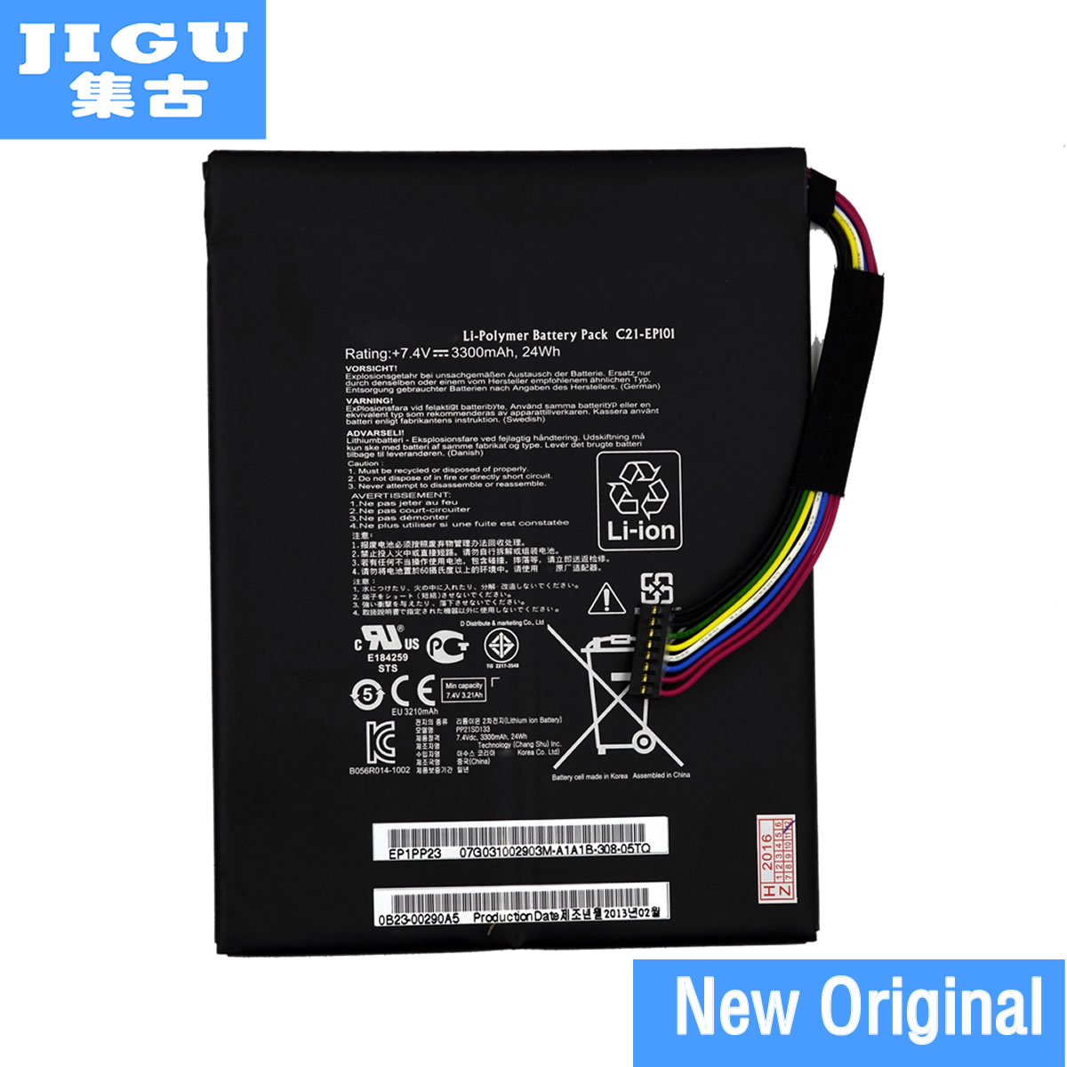 JIGU Original C21-EP101 tablet Battery for ASUS Eee Pad Transformer TF101 TR101 7.4V 3300mAh protective pu leather case for asus eee pad transformer tf101 black