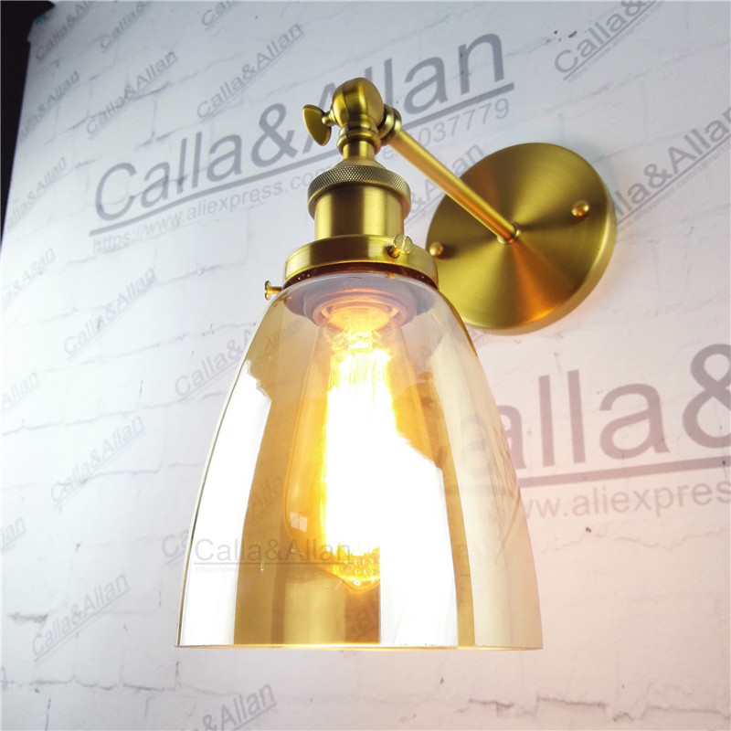 Amber glass cup lampshade brass holder wall lamp E27 AC110V/220V beside sconce antique brass wall light up and down industrial hantek pc usb oscilloscope 6022bl 2 digital channels 20mhz bandwidth 48msa s sample rate 16 channels logic analyzer