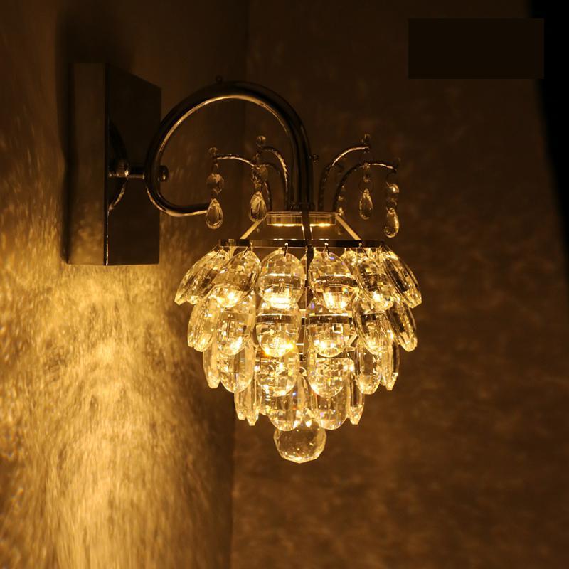 где купить Modern Grade Crystal Wall Lamp For Home Bedroom Living Room Decoration led Wall Light European Luxury Style LED lamp дешево