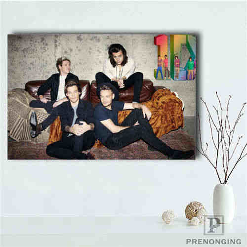 Custom One Direction 1 Printing Posters Cloth Fabric Wall