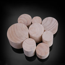 4PCS Solid Wood Furniture Heighten Legs Cabinet Sofa Table Chair Bed End Table Feet Mat Furniture Increased Pad Round Pine Wood(China)