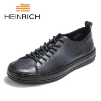Генрих 2018 парусиновая обувь Для мужчин Повседневное кроссовки дышащая износостойкая обувь удобная обувь круглый носок черный со шнуровкой