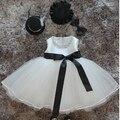 Девочка Pageant Свадебные Платья Младенческой Принцесса Маленькие Девочки 1 Года Birthday Party Dress Новорожденных Крещение Платья