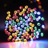 MUQGEW 2017 Newest Holiday Decoration Fairy 200 LED Outdoor Solar Powered String Light Garden Christmas