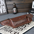 New! Mens fashion PU crazy horse leather Waist Packs. High quality vintage leisure design for mans. Discount sales promotion.