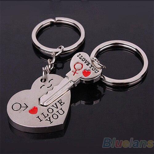 12 Par Forma Chave Do Coração Casal Chaveiro Chaveiro Presentes do Amante  do Dia Dos Namorados 2d1acb2ef7
