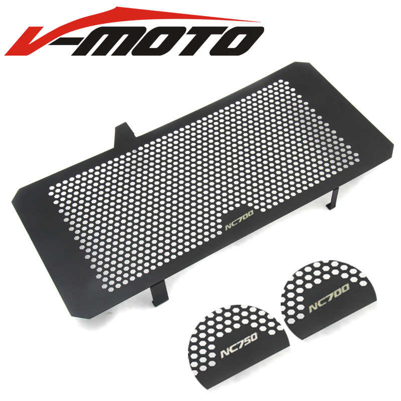 LOGO Motorcycle Accessories Radiator Guard Protector Grille Grill Cover For HONDA NC700 NC750 X/S NC700S NC700X NC750X NC750S
