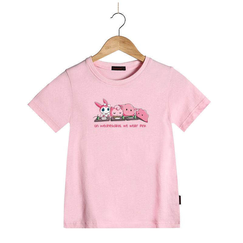 Girls t shirt summer children 39 s tops clothing cute cartoon for Cute summer t shirts
