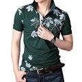 2016 Летом Новая Мода Печатных Мужчин Polo Рубашки С Коротким Рукавом Хлопок Polo Homme Высокое Качество Дышащий Повседневная мужская Рубашка MC144