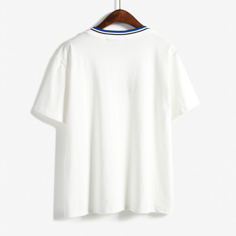 22ef2561eee2 Ulzzang shirt casual shirt women t shirts 2018 plus size summer style  korean embroidery O neck T shirt women tops couple clothes-in T-Shirts from  Women s ...