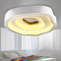 Новые акриловые розы потолочный светильник 72 Вт Вес 5.5 кг немой белый кованого железа лампы Тенты L52 * w48 * h11cm для Спальня