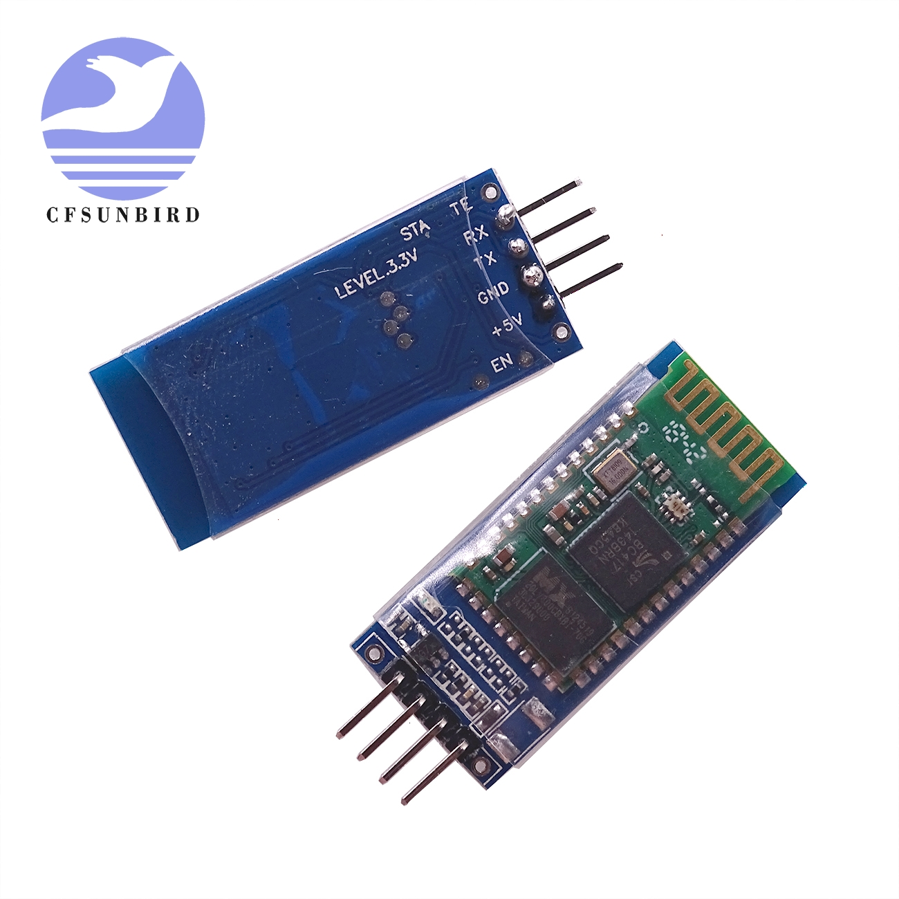 Image 2 - free shipping 20pcs/lot HC05 HC 06 JY MCU anti reverse, integrated Bluetooth serial pass through module, HC 05 master slave 6pin-in Integrated Circuits from Electronic Components & Supplies