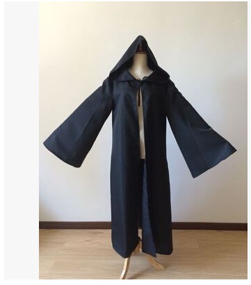 Anime Star Wars Costume Unisex Adult Hooded Robe Jedi Knight Cosplay Darth Vader Cloak Cape for Men S-2XL