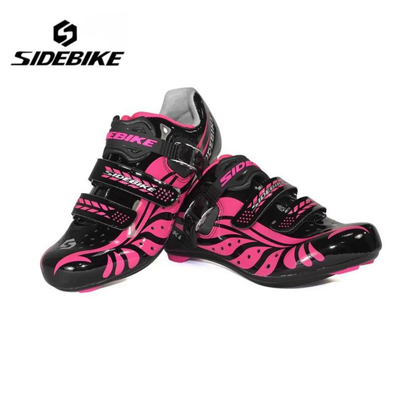ФОТО Sidebike Summer Women Bike Bicycle Shoes Lightweight Road Bike Shoes Wear-resistant Cycling Shoes Bike Riding Shoes Boots
