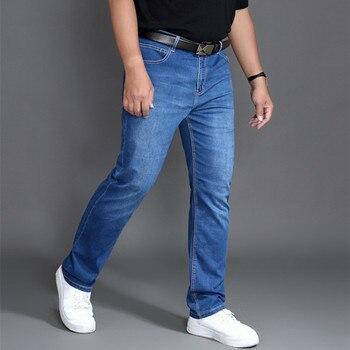 Jeans Men Clothes Modis Homme Pants Brand Mens Ropa de Hombre Jean Uomo Denim Man Slim Fit Blue Stretch Regular Pantalon Plus 46