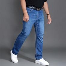 ג ינס גברים בגדי Modis Homme מכנסיים מותג Mens Ropa דה Hombre ז אן Uomo ג ינס גבר Slim Fit כחול למתוח רגיל pantalon בתוספת 46