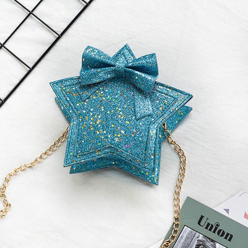 Lovely Baby Girls Mini Messenger Bag Cute Sequins Star Kids Small  Children Handbags Bags