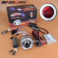 Motorcycle Headlight Universal 2 0 Inch HID Bixenon Projector Lens Xenon Light Headlamp Kit With CCFL