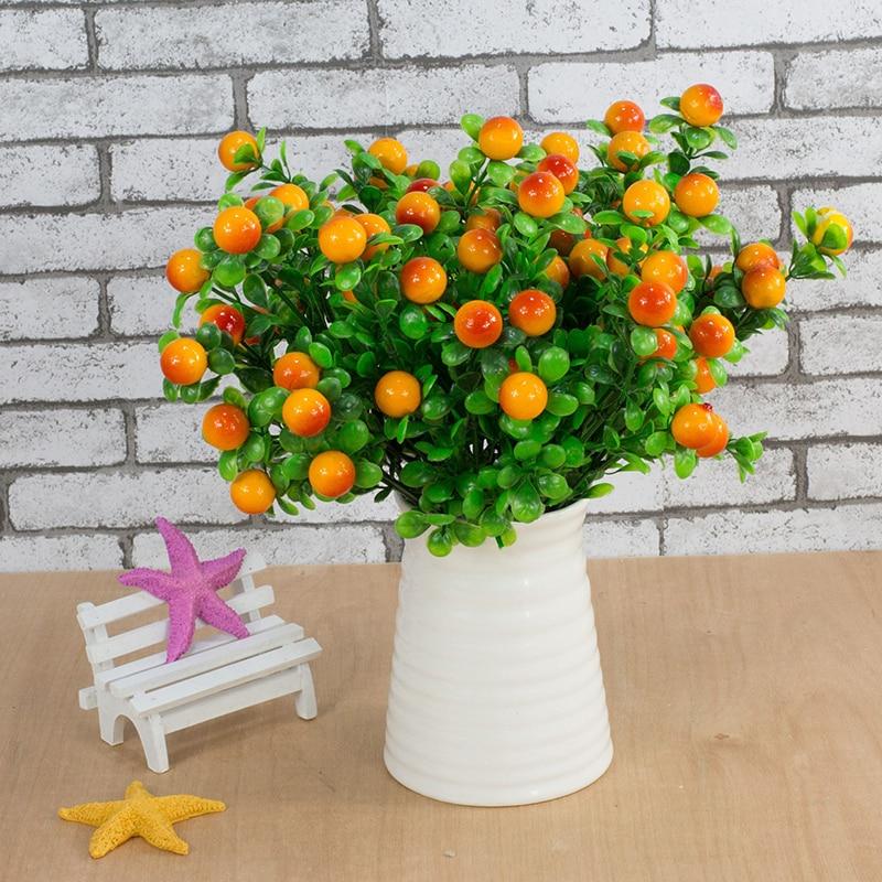 6 forks Artificial Plants Beautiful Home Decoration Simulation Rich Fruit Festive Lucky Auspicious Flower Fruit