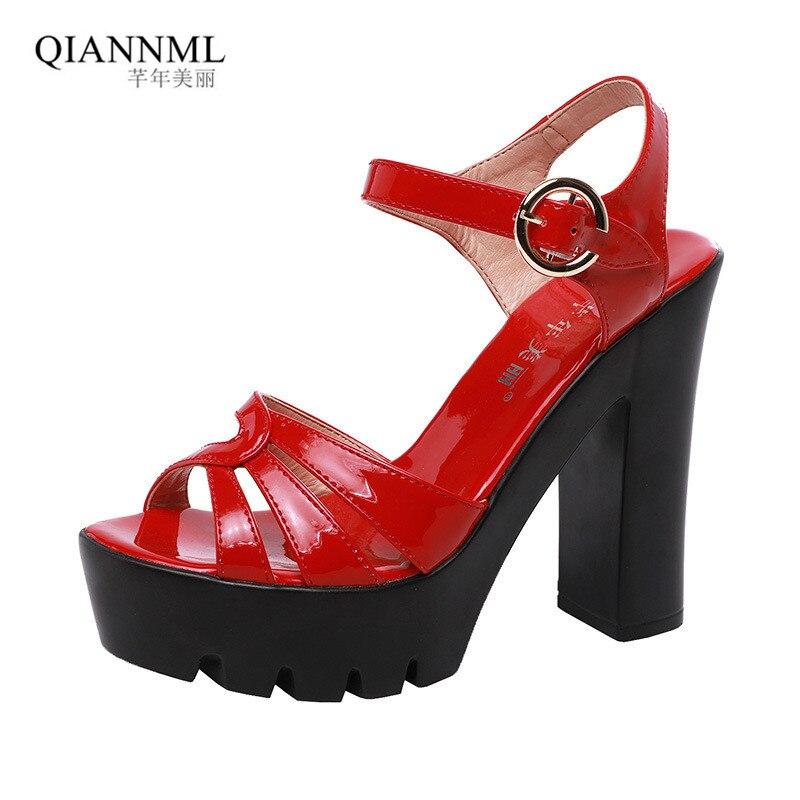 Zapatos 32 Charol Talla Tacones Verano Mujer 2019 Sandalias Boda De Grande 43 Altos WYH29EDIeb