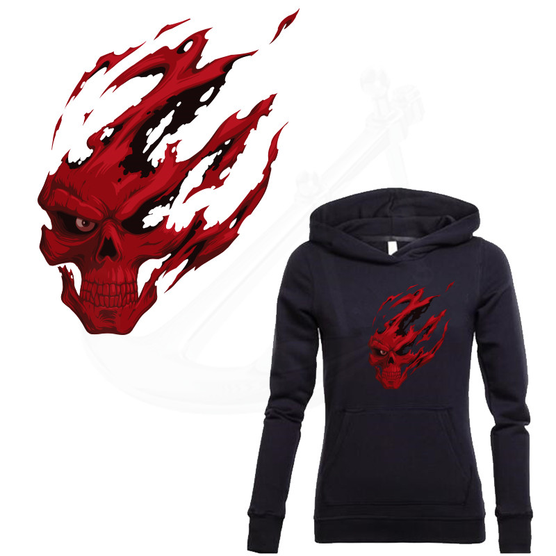 Buy patch for clothing red grim reaper for Heat transfer stickers for t shirts