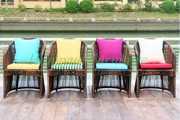 Mesa de mimbre silla de jardín al aire libre de alta calidad blanco ...