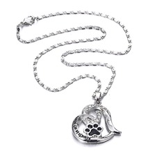 Keep Safe Paw Pet Lover Pendant Necklace