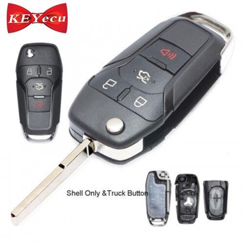 KEYECU pour Ford Fusion Bord Explorateur 2013-2015 Flip Télécommande De Voiture Shell Key Case Fob Couvercle Du Boîtier N5FA08TAA uncut Lame