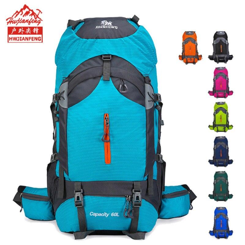 Haute qualité professionnel escalade sac à dos voyage Camping en plein air sac à dos Trekking sac à dos équipement de Camp randonnée équipement 60L