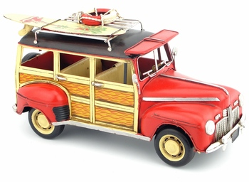 Antique classical car model retro vintage wrought handmade metal crafts for home/pub/cafe decoration or birthday gift