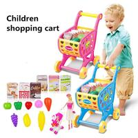 Shopping Carts Fruit Vegetable Pretend Play Children Kid Educational Toy Dropship Y1101
