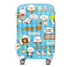 KUNDUI Women Suitcase bags Cartoon ice cream trolley case ABS PC Luggage men travel box Girl