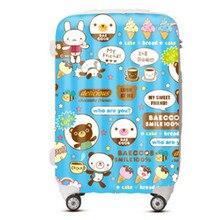 KUNDUI Women Suitcase bags, Cartoon ice cream trolley case, ABS PC Luggage men travel box, Girl fashion cute Cartoon bag valiz