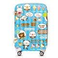 YISHIDUN Mujeres Maleta bolsas, helado de la historieta caja de la carretilla, ABS PC caja de Equipaje hombres bolsa de viaje, chica de moda bolso lindo de la Historieta valiz