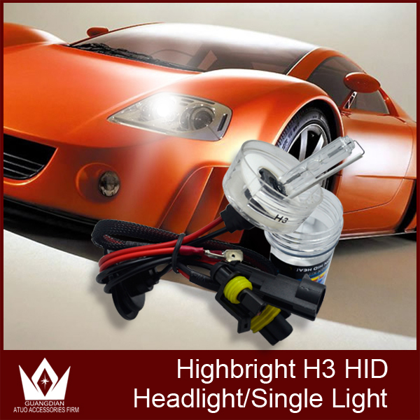 Guang Dian super bright 35W HID Xenon globe single beam xenon bulb h3 single beam xenon
