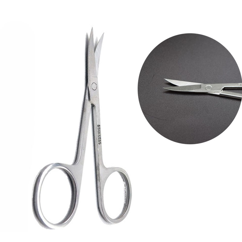 Small Sharp Head Eyebrow Scissors Beauty Nose Hair Cut Manicure Nose Stainless Steel Cosmetic DIY Scissors