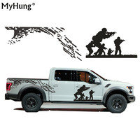 Sticker For Car Cool CS Army Battle Car Whole Body Sticker Covers Garland PVC Car Styling Waterproof 2pcs Per Set