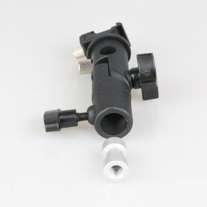 """Image 5 - E tipo universal suporte de metal flash sapato quente speedlite guarda chuva titular com 1/4 """"a 3/8"""" parafuso adaptador montagem giratória luz suporte"""