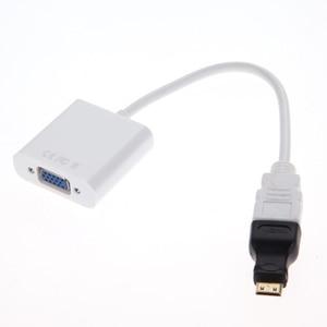 Image 3 - 1pcs מיקרו/מיני HDMI ל vga ממיר כבל מתאם 1080P VGA HDMI מתאם עבור מחשב מחשב שחור לבן