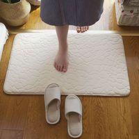New arrival 7colors available bath mat/ bathroom rug mat carpet floor rug toilet mats Solid for bathroom 60cm*90cm Free Shipping