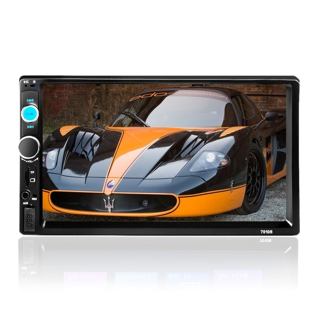 Car 2 Din autoRadio MP5 MP4 Player 7'' inch HD Touch Screen Bluetooth Stereo Audio Video USB/TF/FM/AUX steering wheel control