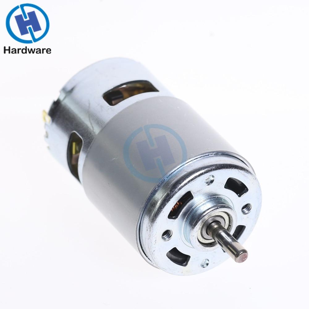 Novo dc 12 v-36 v 3500--9000 rpm grande motor de torque de alta potência baixo nível de ruído 775 ferramentas de rolamento de esferas do motor