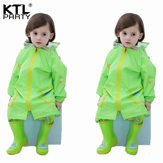 f75bb7897 KTLPARTY Kids Baby Cartoon Raincoat Children s Waterproof Hooded ...