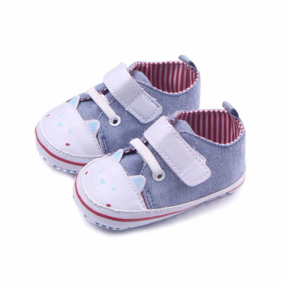 Newborn Canvas SHOES Baby Boy Girl Anti-slip Sole Crib Shoes Prewalker Sneakers 0-12 Months