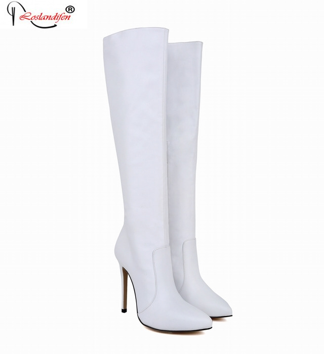 ФОТО Big Size 35-42 Womens Over Knee Boots Sexy High Heels Fashion Boot Shoe For Women Casual Thin Heel Spring Shoes Smynlk-0091h