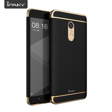 Electroplate Case For Redmi Note 4X, IPAKY 3 In 1 PC Electroplate Matte Shock Absorption Hybrid Case Cover For Redmi Note 4X