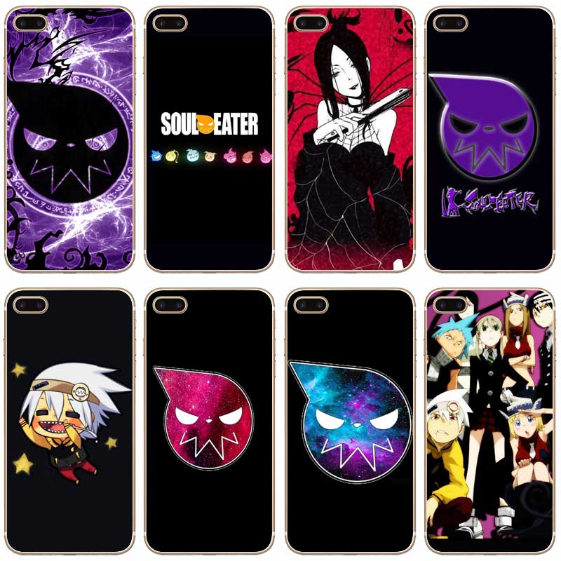 H250 Soul Eater Transparent Hard Thin Case Cover For Apple iPhone XR XS Max 4 4S 5 5S SE 5C 6 6S 7 8 X Plus huawei p30 pro обои
